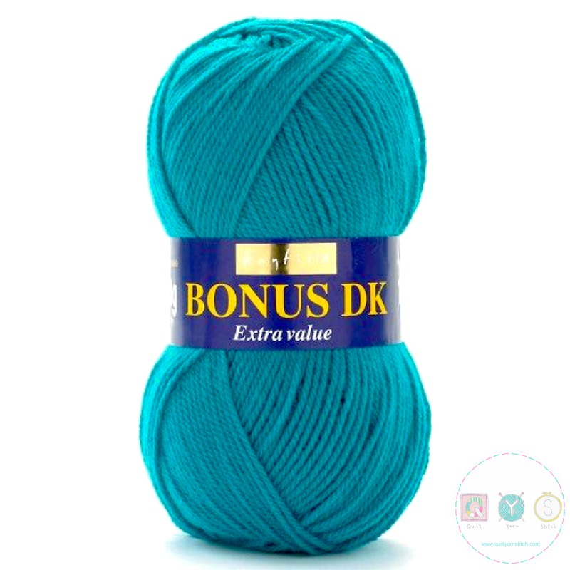 WL437 - Hayfield Bonus Dk Wool - Rainforest Blue Yarn 668