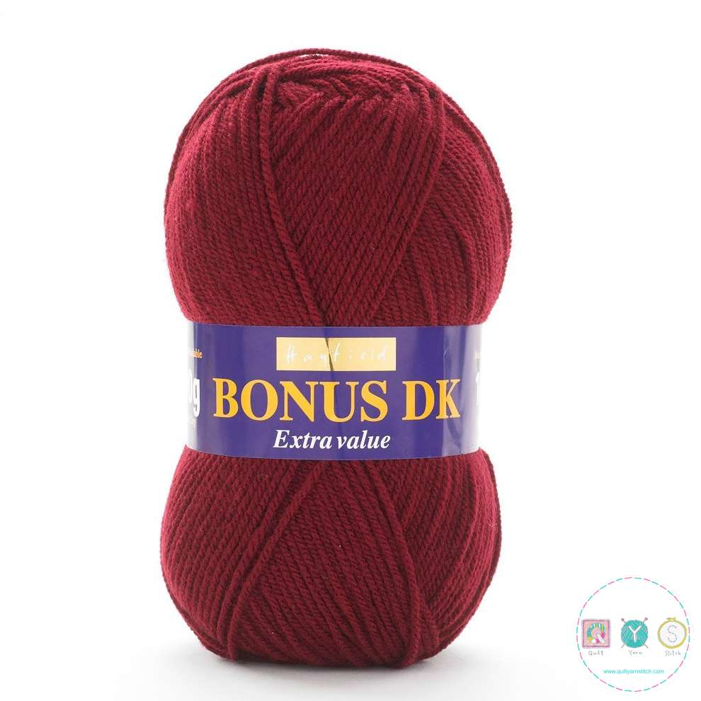 Hayfield Bonus Dk Wool - Claret Red Knitting Yarn 941
