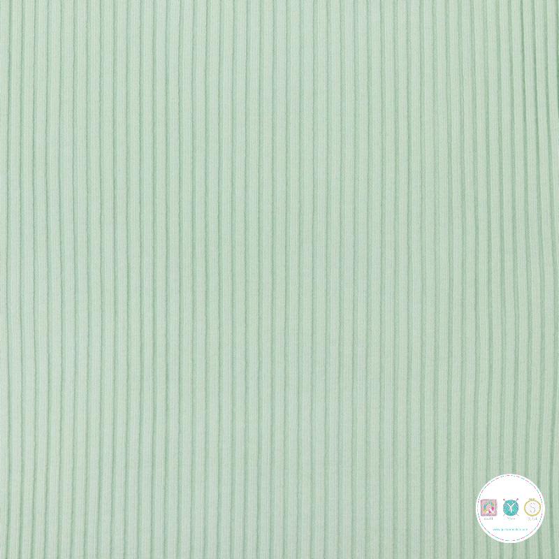 Mint Green - Heavy Rib Tube - Knitted - Collars - Cuffing - Dressmaking Fabric