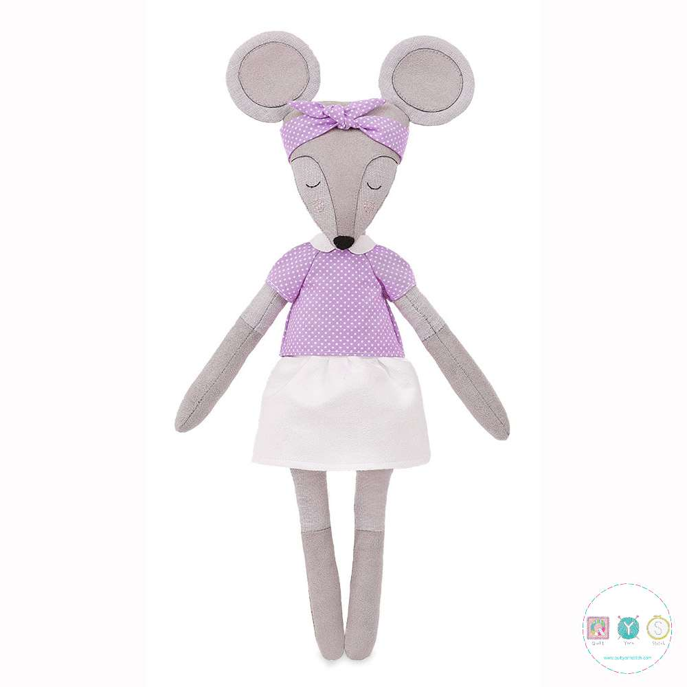 Gift Idea - Helga The Mouse Sewing Kit - D.I.Y Kit from MiaDolla - Make Your Own Toy - Gift