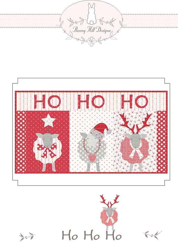 Quilting Sewing Pattern for a Christmas Wall Hanging, Ho Ho Ho by Bunny Hill Designs