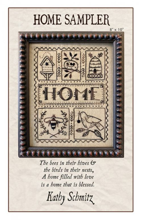Home Sampler Embroidery Kathy Sch