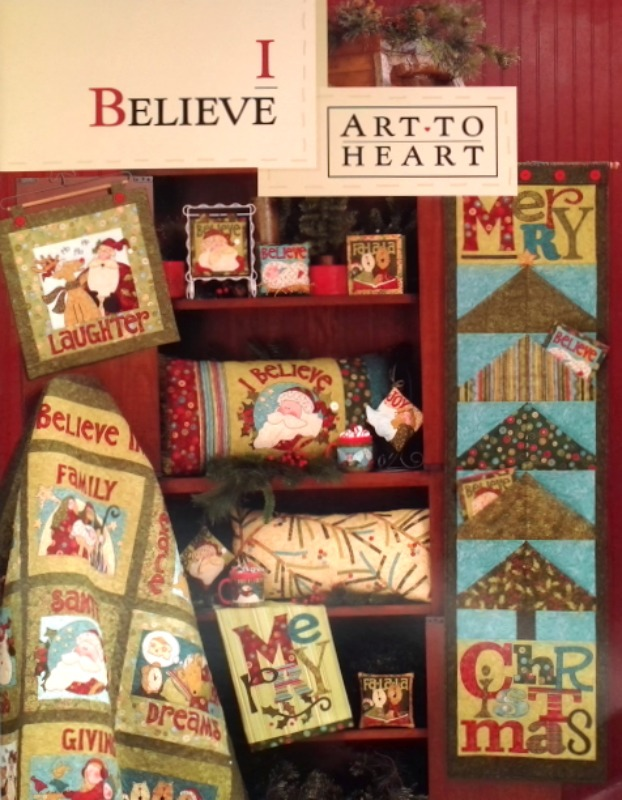 I Believe Appliqué Book - Art To Heart - Applique Pattern Book by Nancy Halvorsen