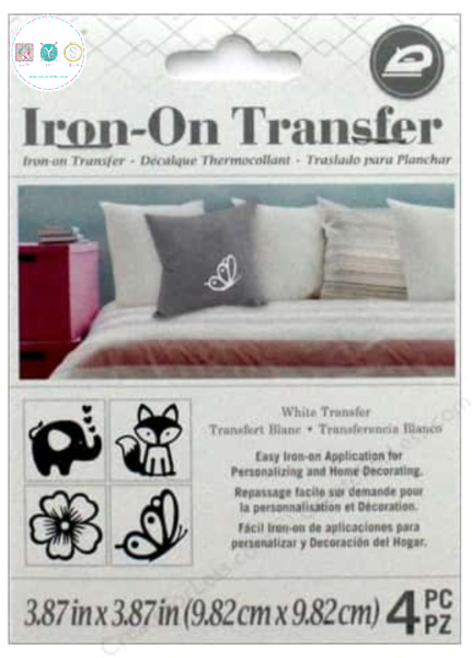 Boho White Iron On Transfer - by Darice - Home Decorating - Sewing Sundries