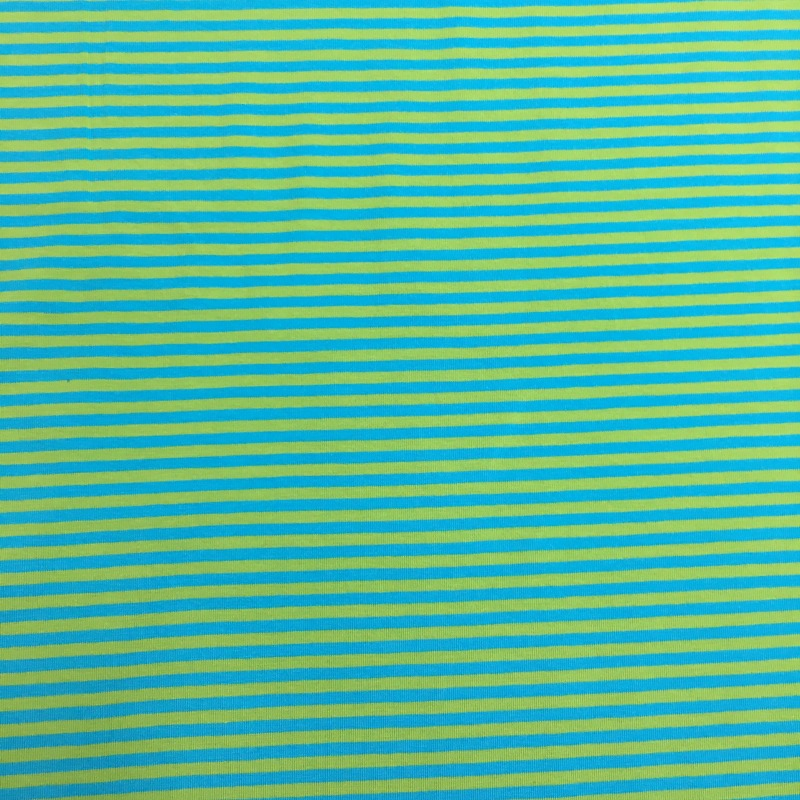 Green Turquoise Stripe Jersey The Quilt Shop