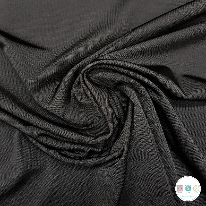 Black Stretch Lining Fabric - Polyester - 150cm - Dressmaking Fabric