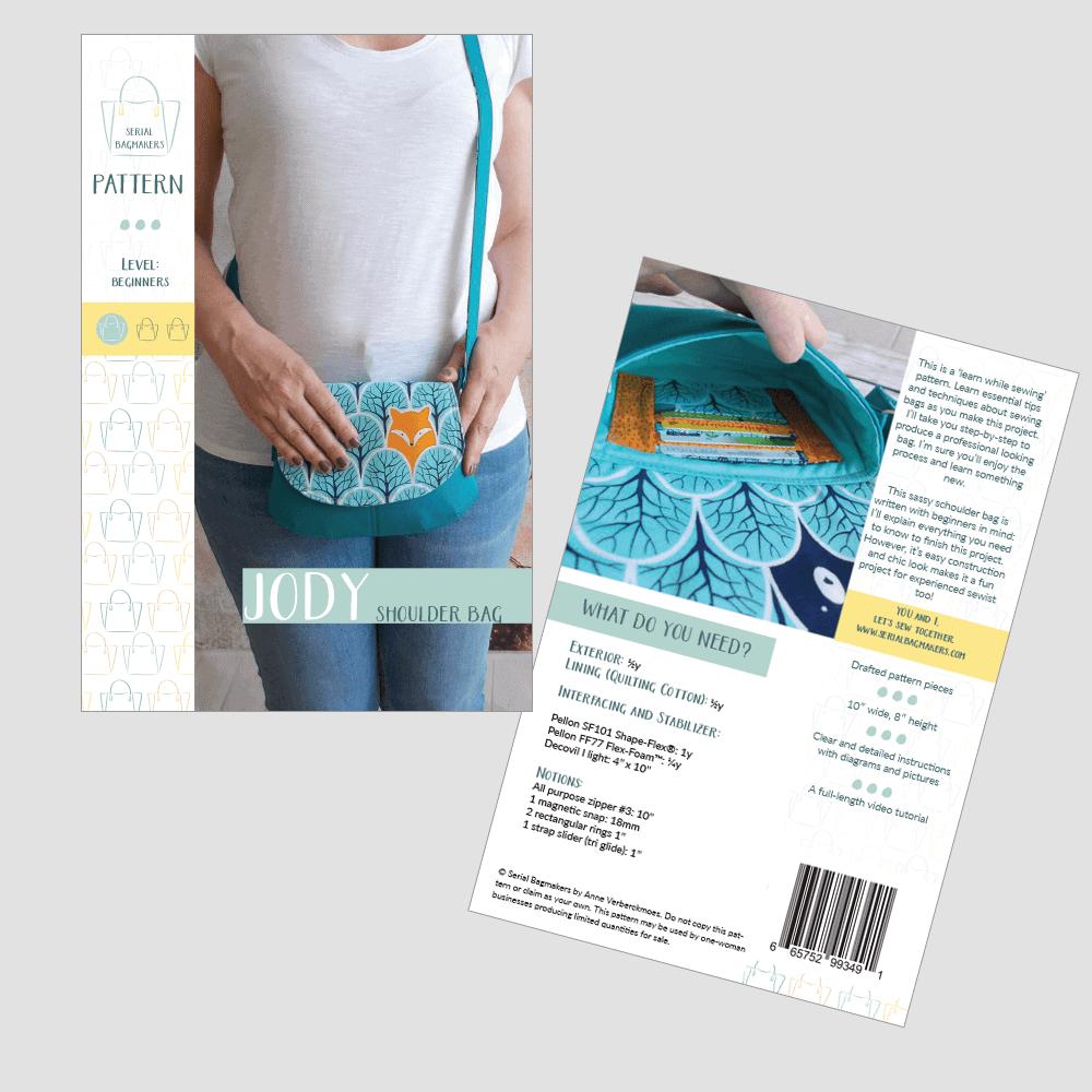 Jody Shoulder Bag Sewing Pattern by Serial Bagmakers