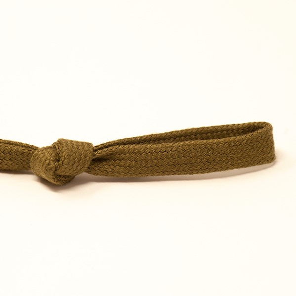 8mm Flat Tubular Drawstring Tape Khaki