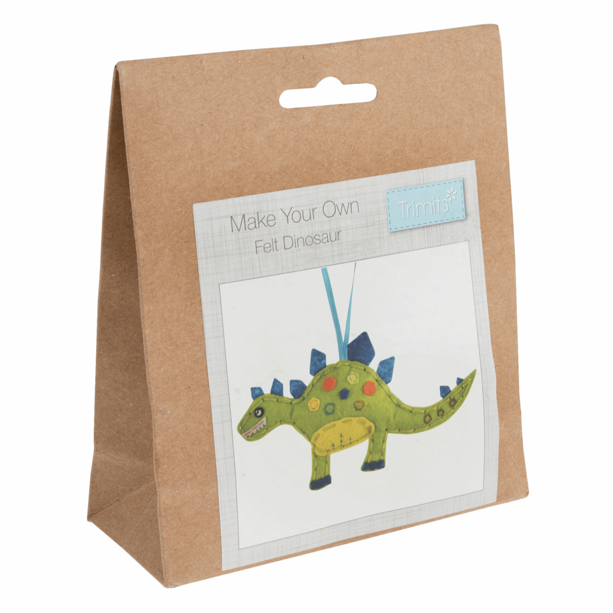 Make Your Own Dinosaur - Hanging Decoration Kit - Beginners Craft Childrens Kit - by Trimits