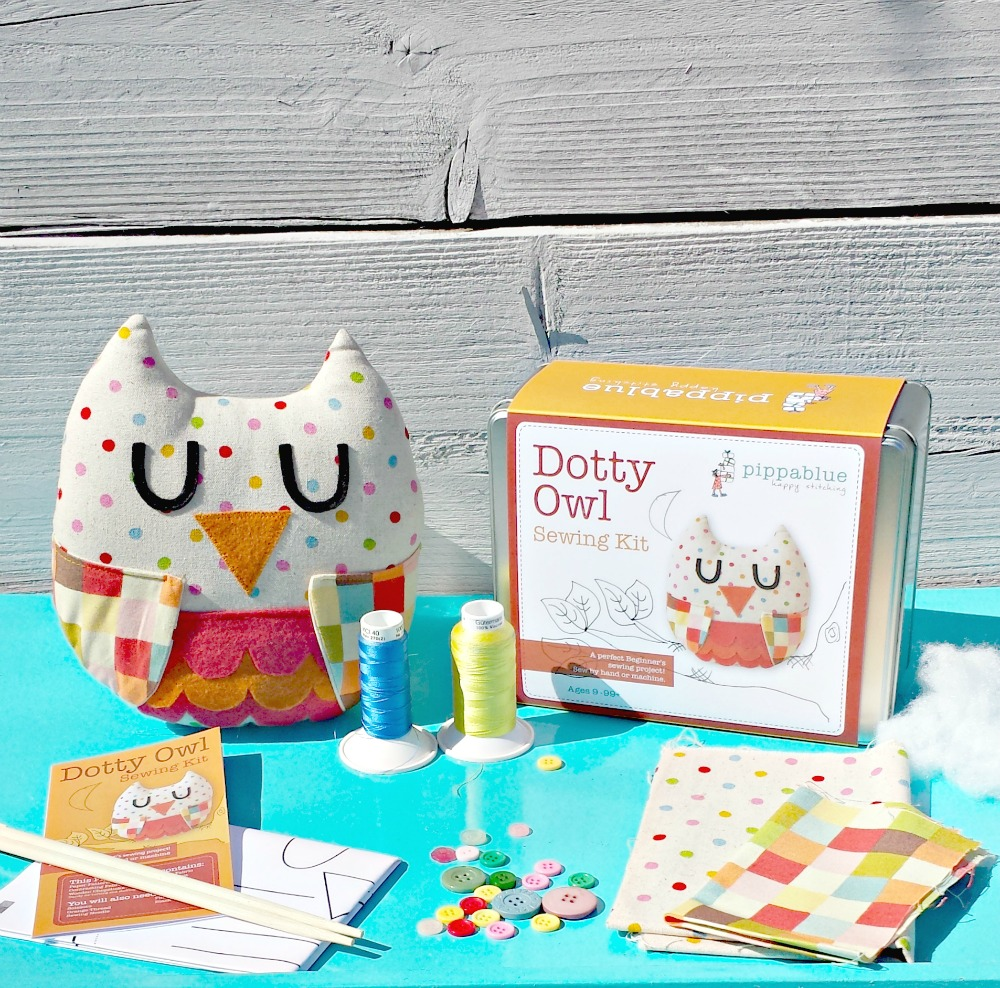 Dotty Owl Sewing Kit Childrens Beginners Kit By
