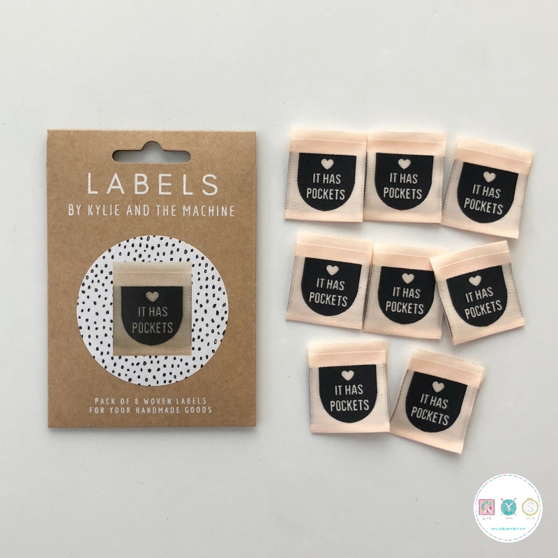 Gift Idea - Kylie and the Machine Woven Labels - It Has Pockets