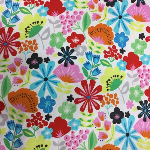 Knifty Knit Floral Jersey Fabric by Alexander Henry