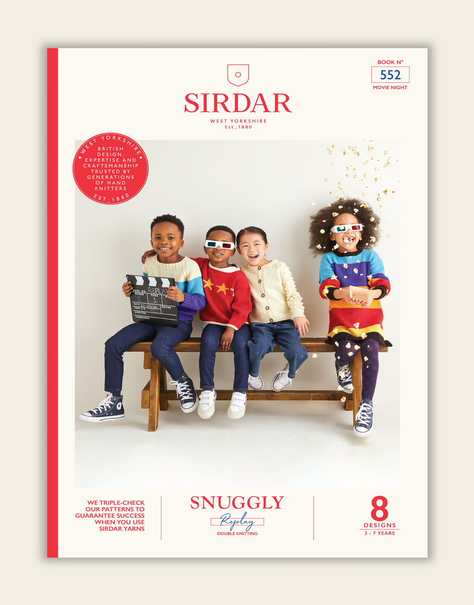 Knitting Pattern Book by Sirdar - Snuggly Replay DK Movie Night Book - 552