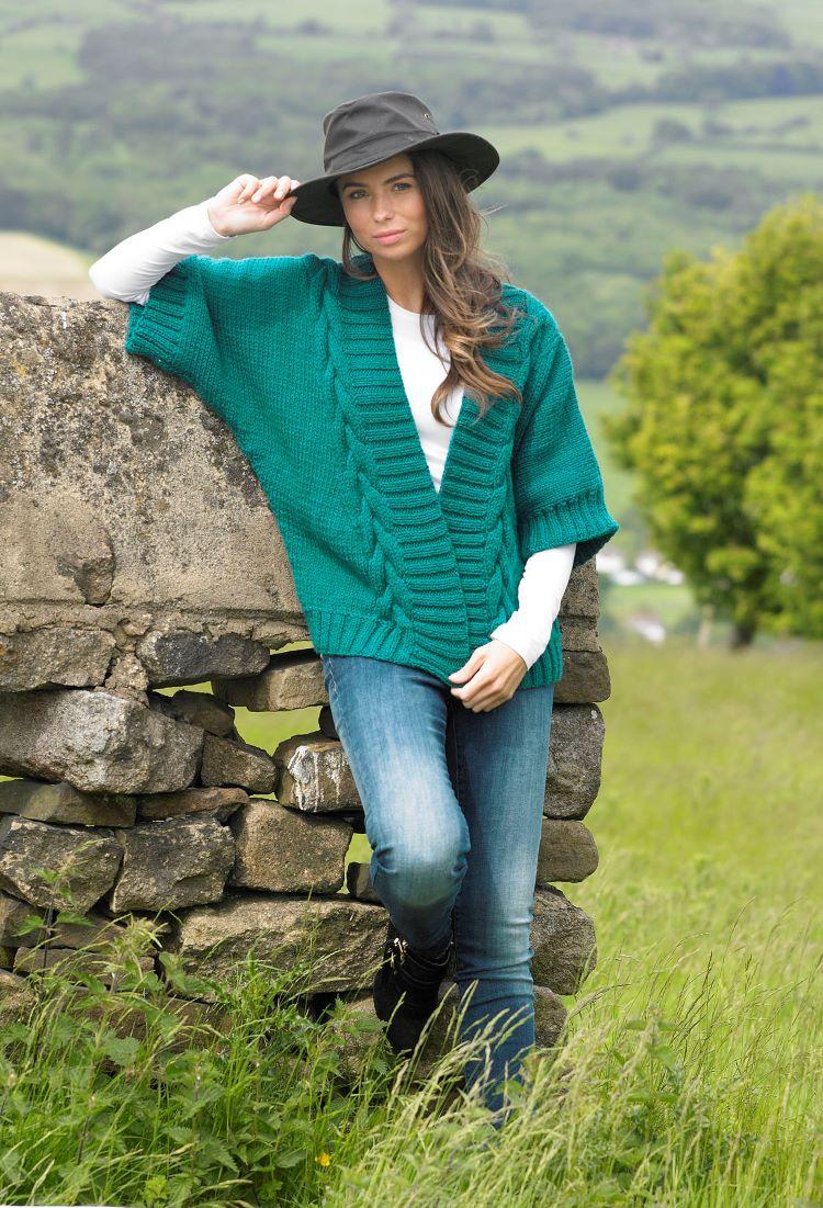 Knitting Pattern - Stylecraft 9077 Chunky Cable Jacket