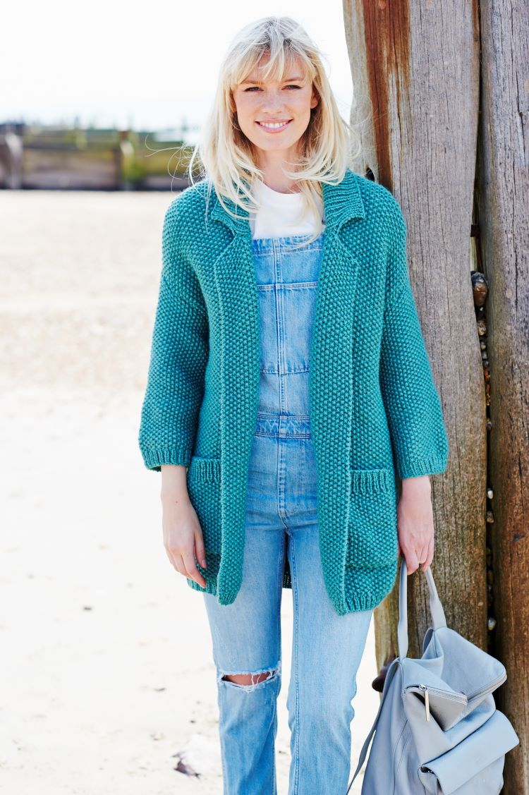 Knitting Pattern - Stylecraft 9444 Moss Stitch Jacket in Life Chunky