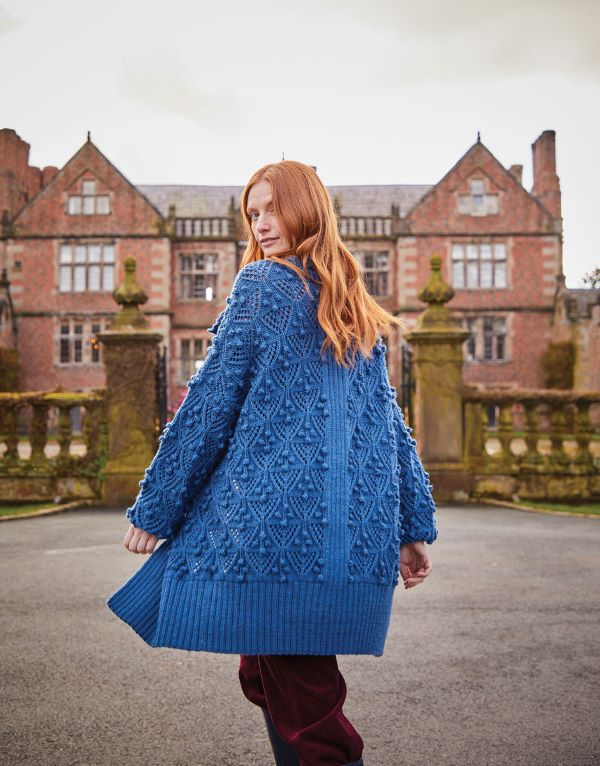 Knitting Pattern by Sirdar - Country Classic Worsted Longline Bobble Detail Cardigan 10167