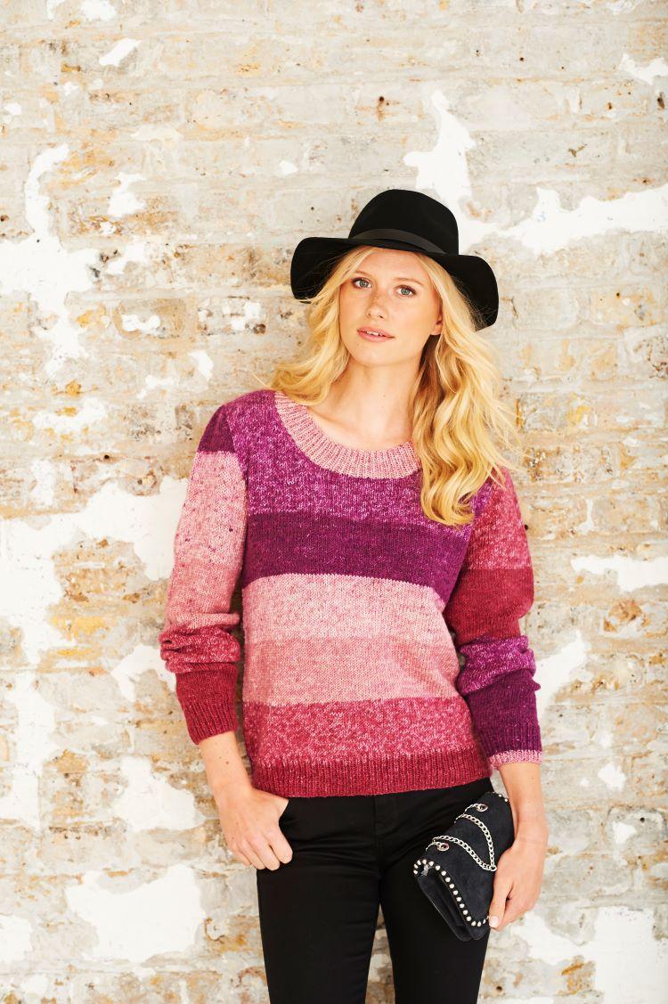 Knitting Pattern - Stylecraft 9482 Sweaters and Mitts in Batik Swirl DK