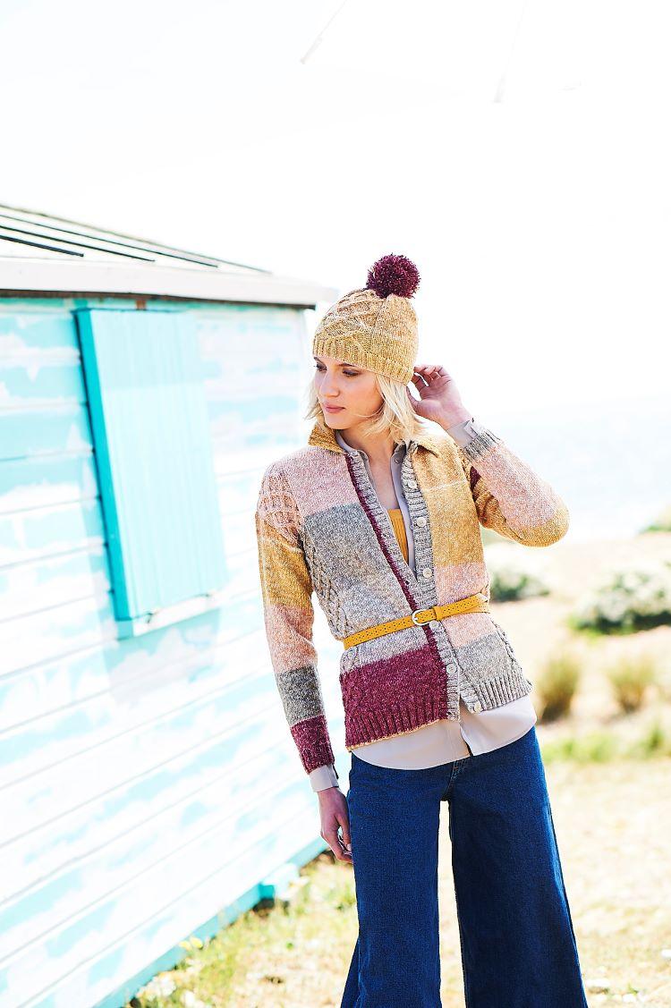 Knitting Pattern - Stylecraft 9672 Cardigan, Hat and Wristwarmers in Batik Swirl DK