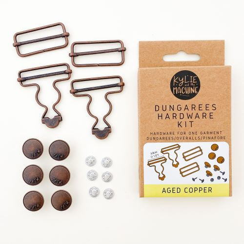Aged Copper Dungaree Hardwear Kit