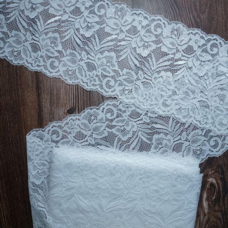 Bra Making 15cm White Stretch Galloon Bra Lace