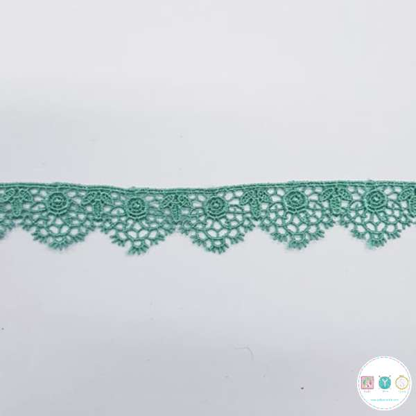 Sage Green Lace Trim - 1 inch - Guipure - Edging - Haberdashery