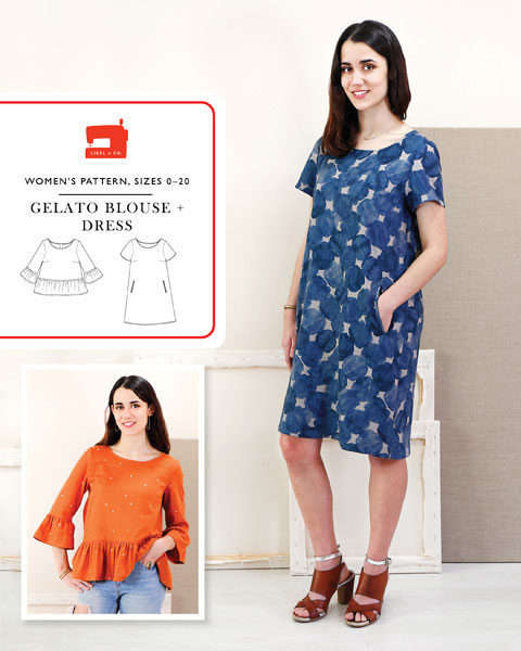 Liesl + Co - Gelato Blouse And Dress Sewing Pattern