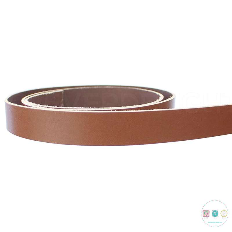Light Brown PU Leather Bag Strapping - 3/4 Inch - Bag Hardware - Haberdashery