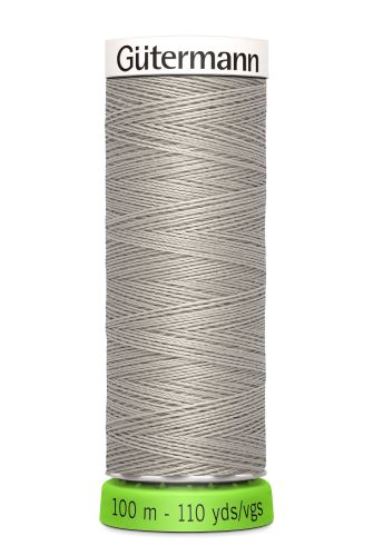Gutermann Sew All Thread - Light Grey Recycled Polyester rPET Colour 118
