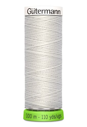 Gutermann Sew All Thread - Light Grey Recycled Polyester rPET Colour 8