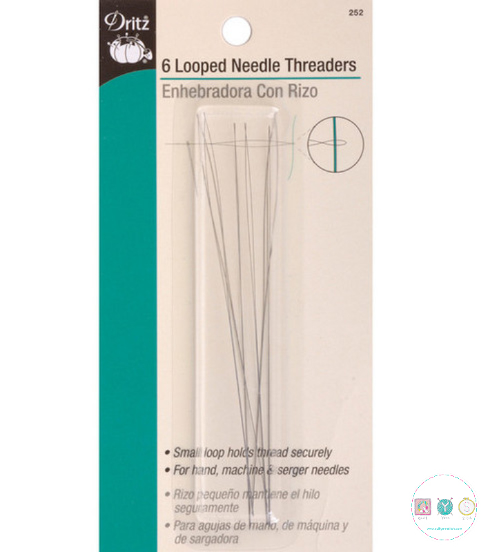 Dritz Looped Needle Threaders - 6 pack - Sewing Accessories