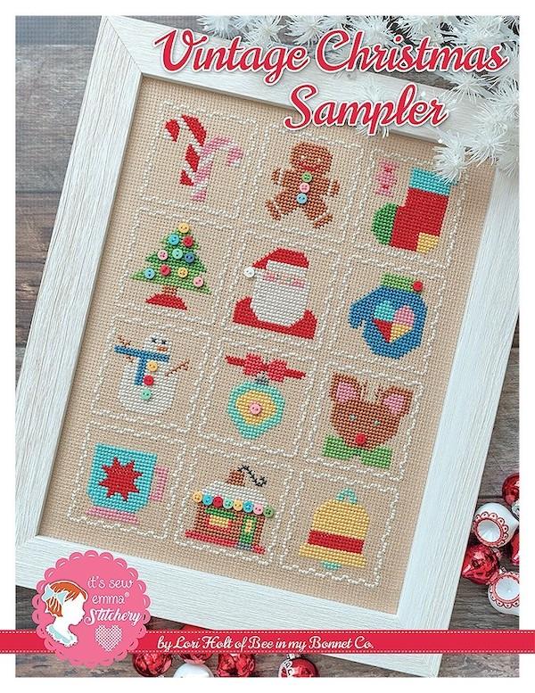 Cross Stitch Pattern - Vintage Christmas Sampler by Lori Holt