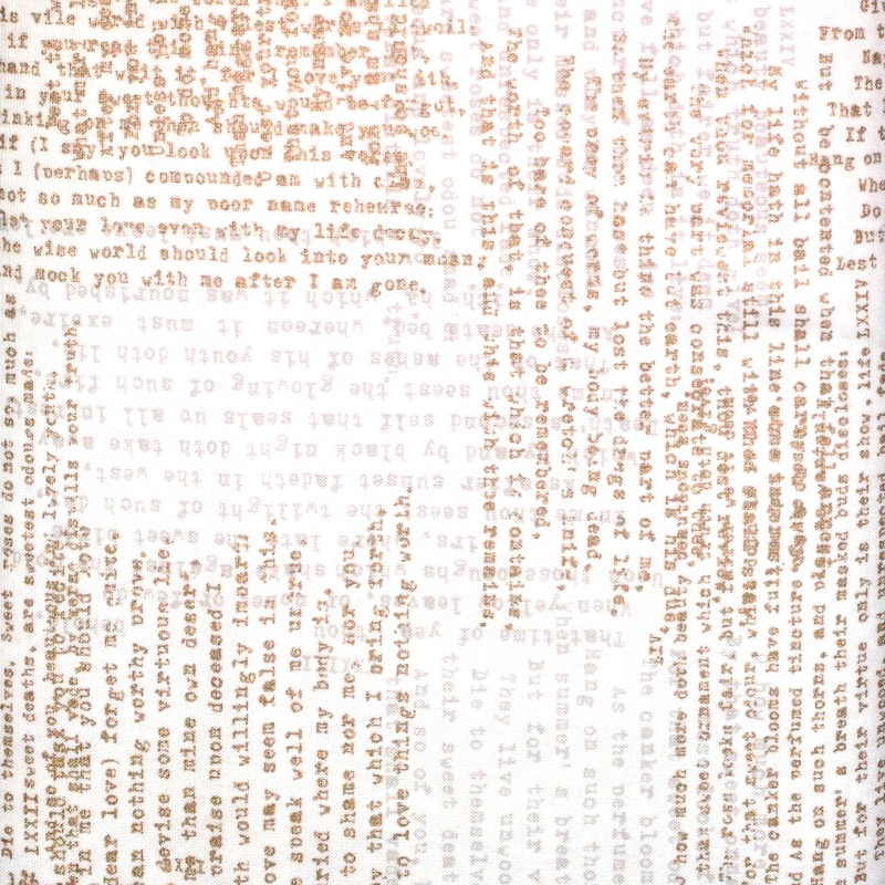 Modern Backgrounds Luster Text on Cream - by Zen Chic for Moda Fabrics - Patchwork & Quilting