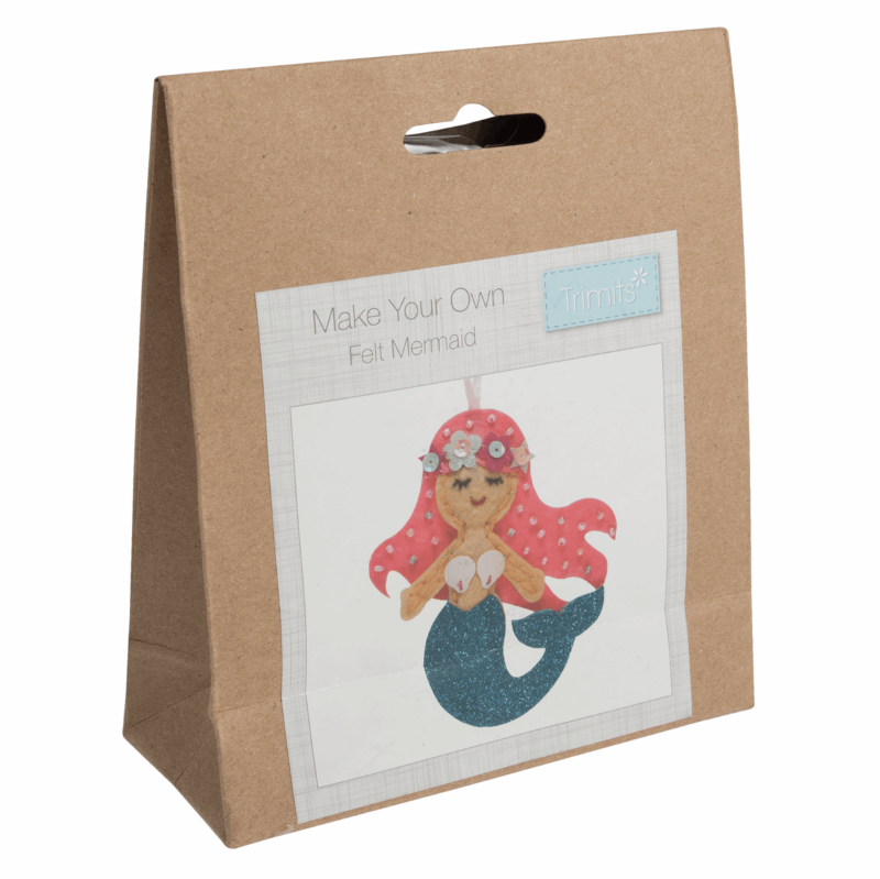 Gift Idea Make Your Own Mermaid Felt Decoration Kit by Trimits