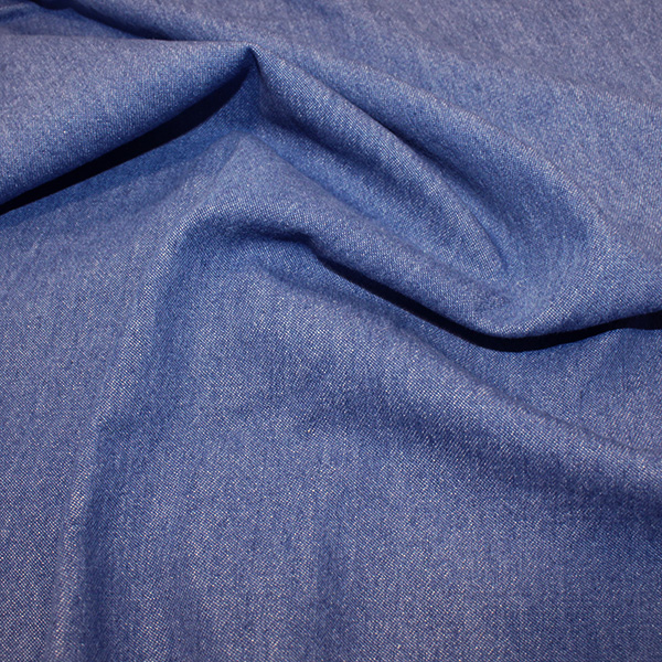 Medium Blue Washed Denim Fabric 8oz - 145cm Wide