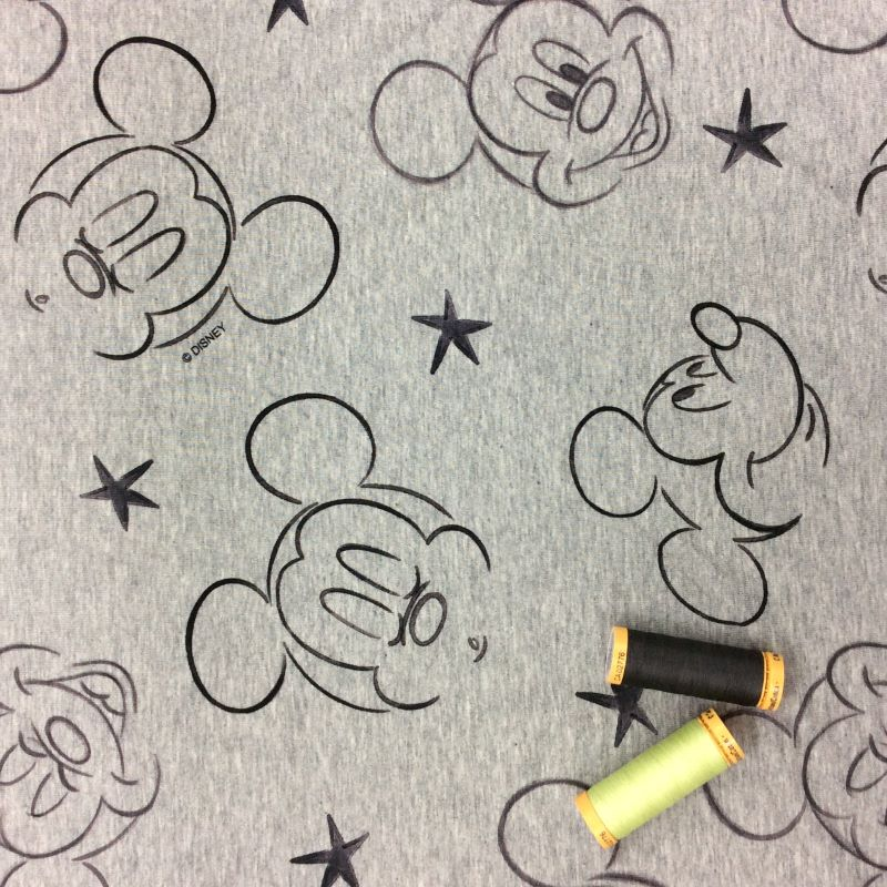 Mickey Mouse French Terry Grey Melange