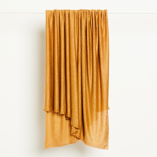 Fine Linen Knit Fabric in Dry Mustard by Mind the Maker