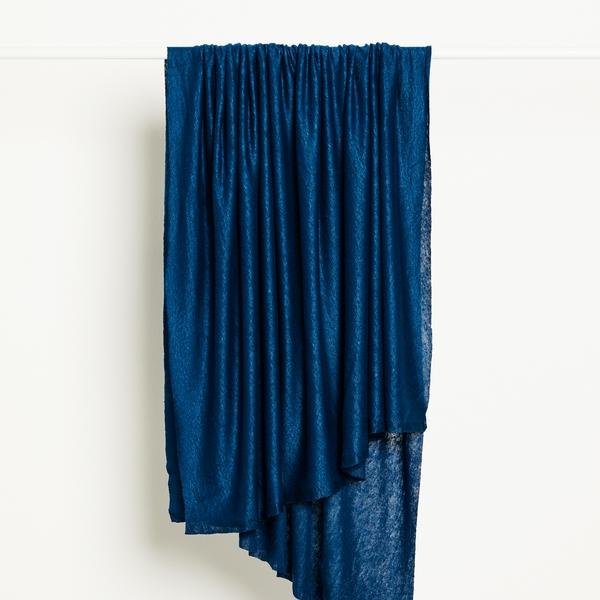 Fine Linen Knit Fabric in Ocean Blue by Mind the Maker