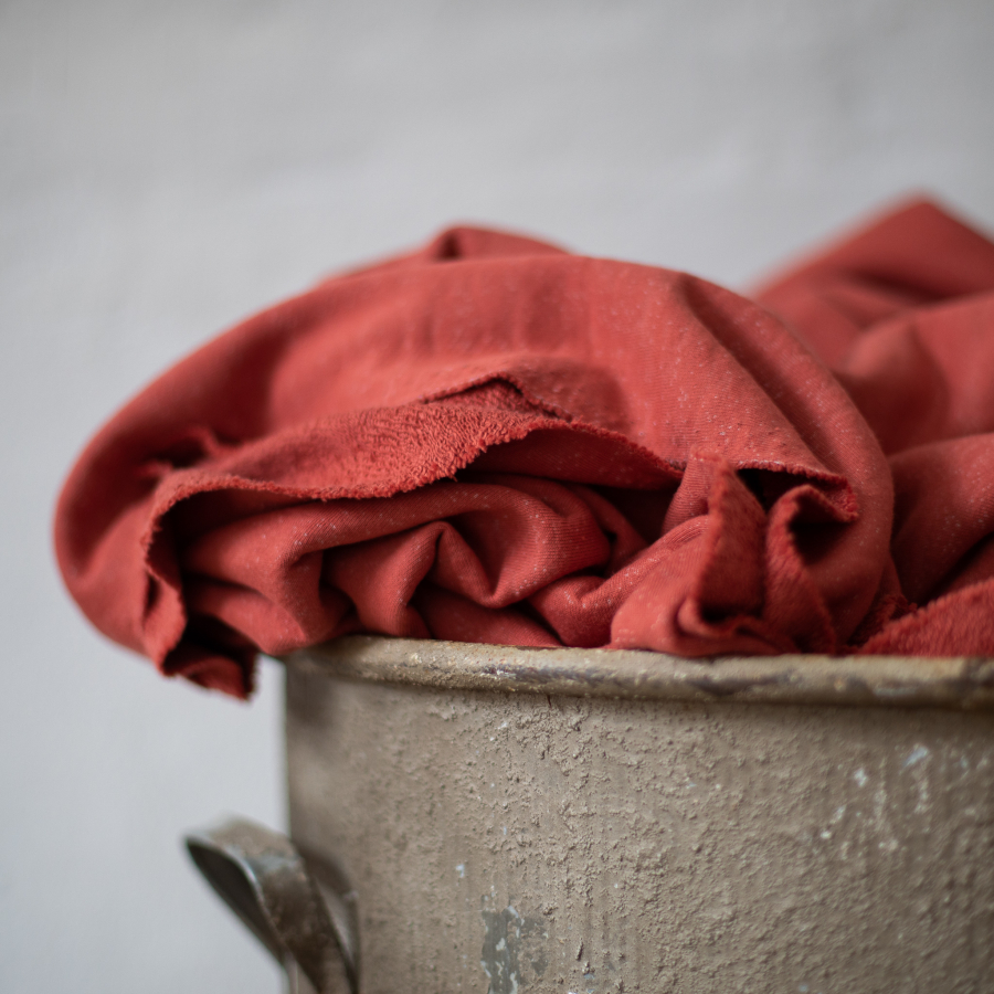 Coral Organic Nep Sweat Fabric by Mind the Maker