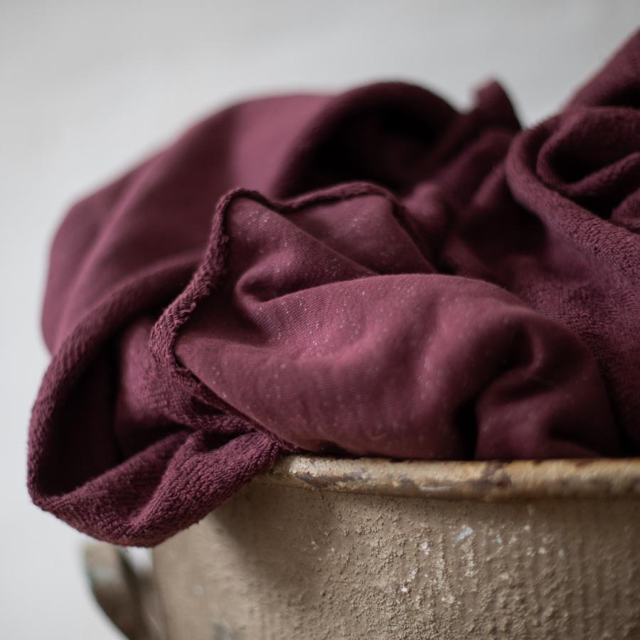 Grape Organic Nep Sweat Fabric by Mind the Maker