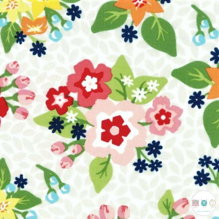 Orchard - Large Floral - 100% Cotton - by April Rosenthal for Moda Fabrics - Patchwork & Quilting