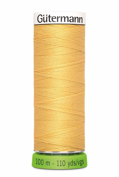 Gutermann Sew All Thread - Mustard Recycled Polyester rPET Colour 415