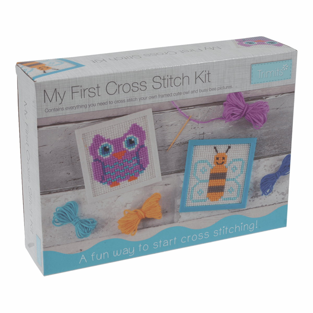 My First Cross Stitch Kit - Owl and Bee by Trimits