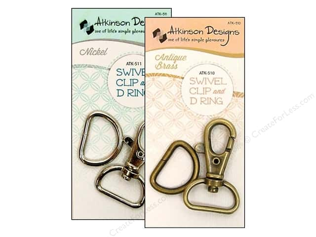 Swivel Clip & D Ring - Brass