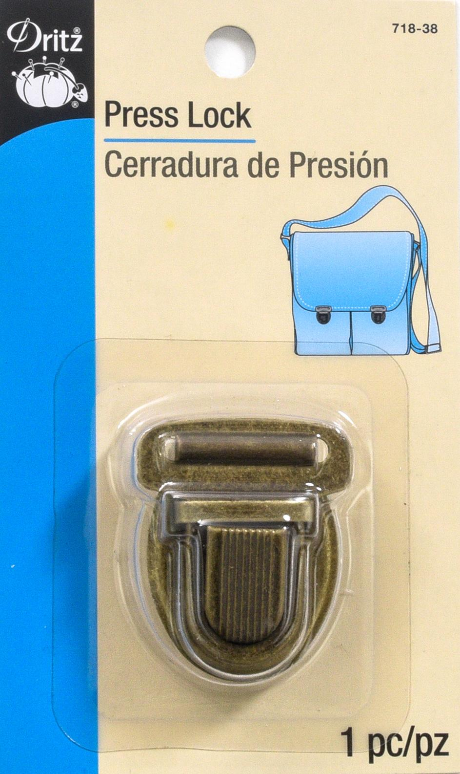 Dritz Press Lock - Bronze Coloured - Bag Making Equipment & Accessories