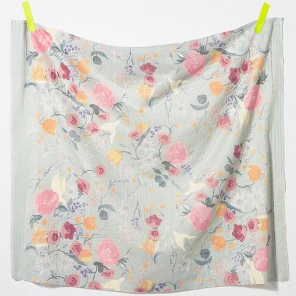 Double Gauze Cotton Fabric - Fuccra Pastel Florals by Nani Iro