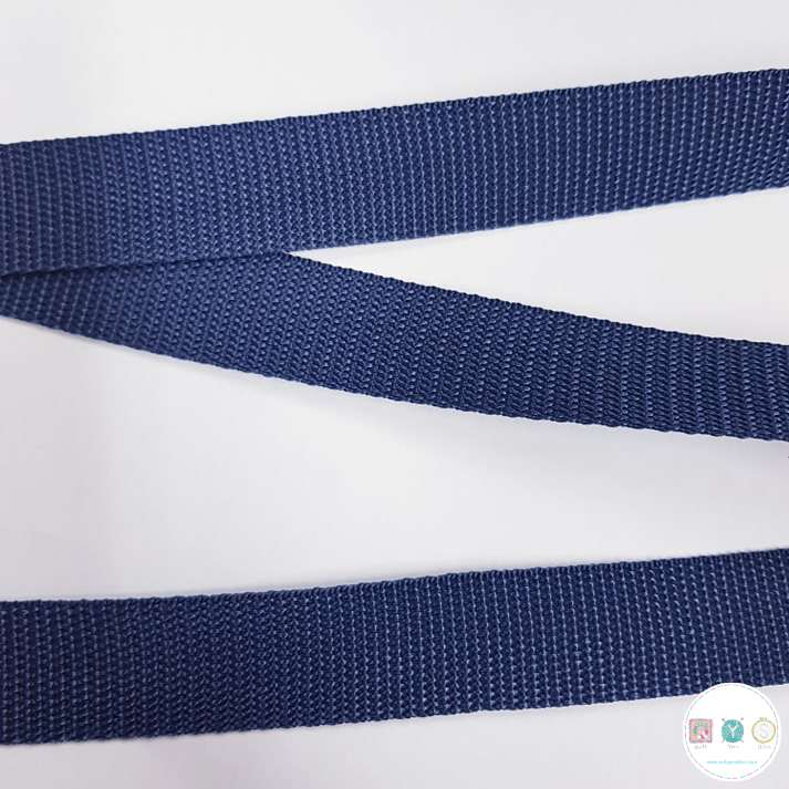 25mm Navy Blue - Polypropylene Webbing - Bag Strapping - Haberdashery
