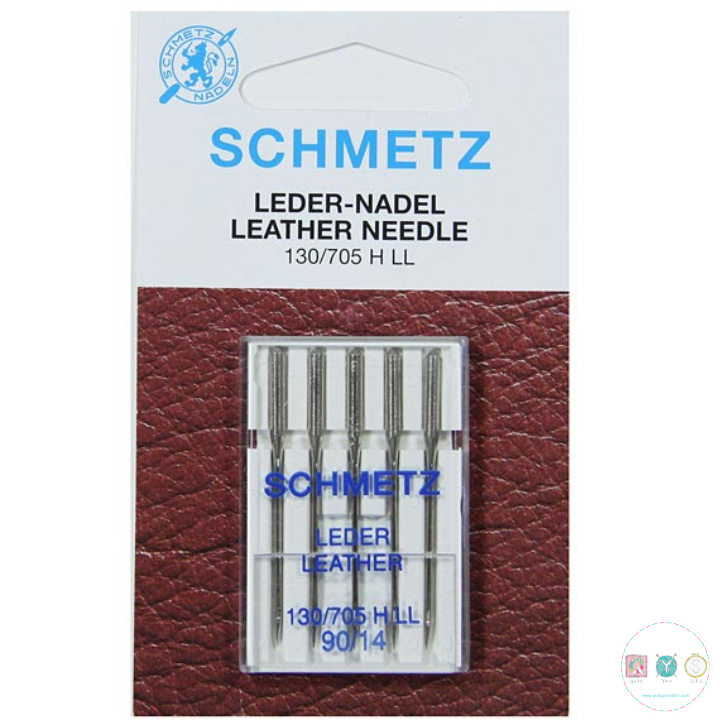 Schmetz - 90/14 Leather Universal Sewing Machine Needles - 5 pack - Uncarded