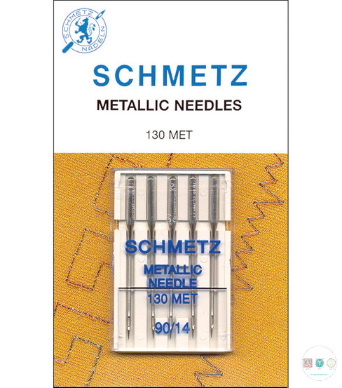Schmetz - 90/14 Metallic Sewing Machine Needles - 5 pack - Uncarded
