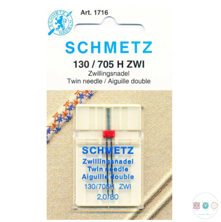 Schmetz - 2mm - Universal Twin Needle - 1 pack - Uncarded