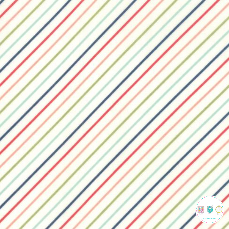 Early Bird - Bias Candy Stripe - by Bonnie & Camille for Moda Fabrics - Patchwork & Quilting